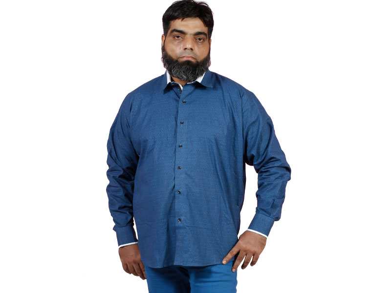 9258da5250d Navy Blue Cotton Shirt PSM-012 - Plus Size Clothing in Pakistan