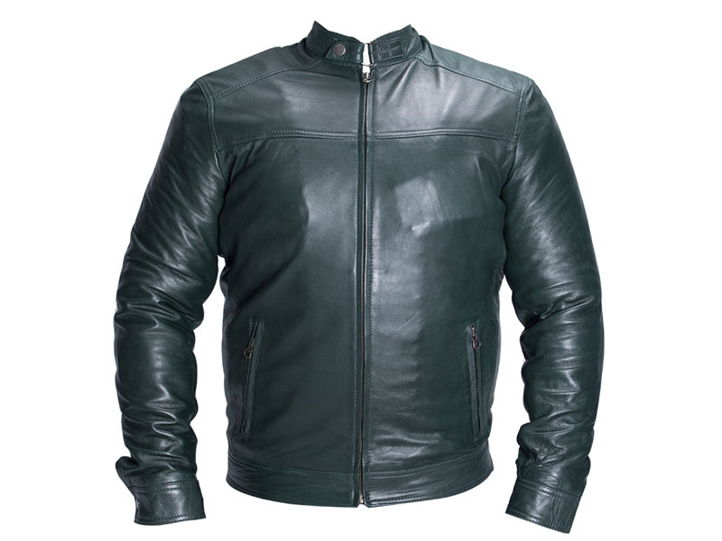 6edbad60370 Green Leather Plus Size Jacket PSM-4042 - Plus Size Clothing in Pakistan