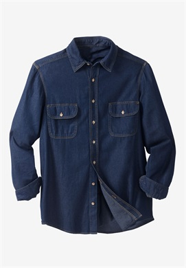 f786ebe620f Blue Denim Long Sleeve Shirt PSM-125 - Plus Size Clothing in Pakistan